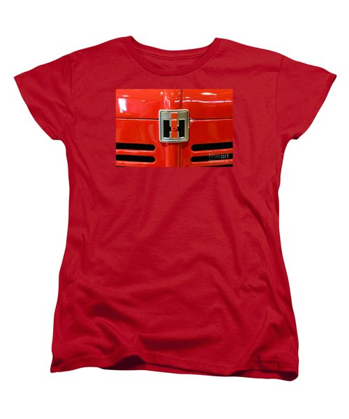 Vintage International Harvester Tractor Badge Women's T-Shirt (Standard Cut) by Paul Ward