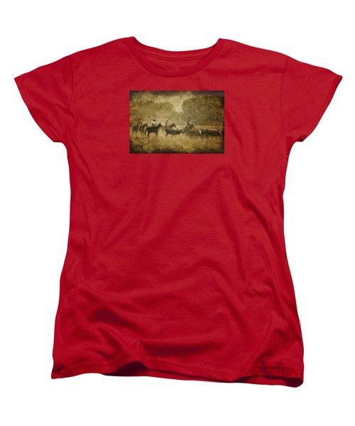 Vintage Roundup Women's T-Shirt (Standard Cut) by Priscilla Burgers