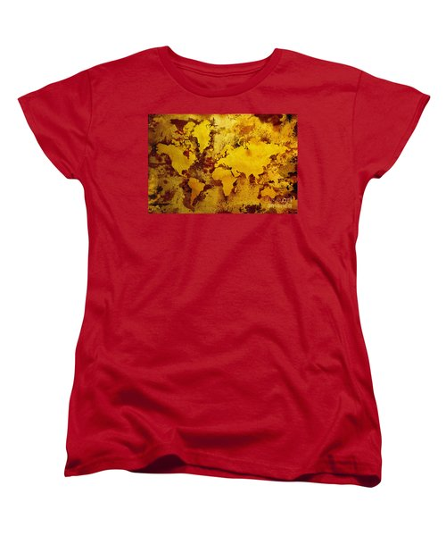Vintage World Map Women's T-Shirt (Standard Cut) by Zaira Dzhaubaeva