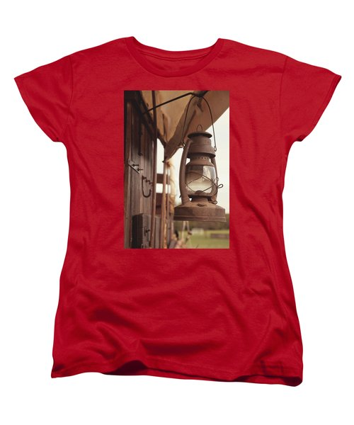 Wagon Lantern Women's T-Shirt (Standard Cut) by Toni Hopper