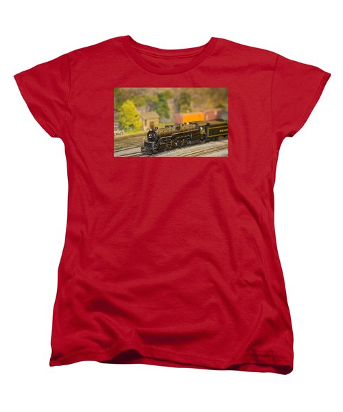 Waiting Model Train  Women's T-Shirt (Standard Cut) by Patrice Zinck