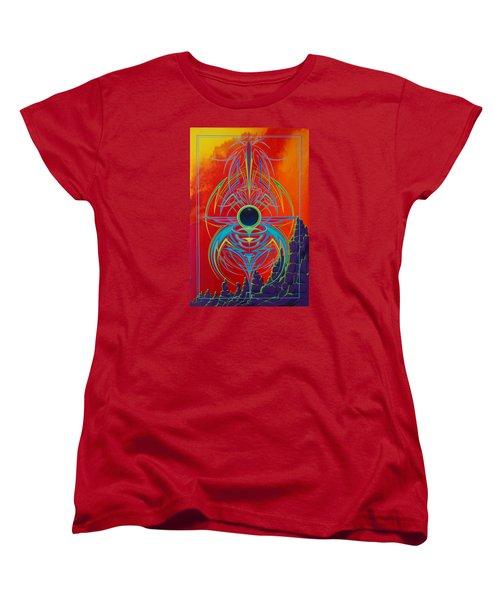 Waiting Over Sedona Women's T-Shirt (Standard Cut) by Alan Johnson