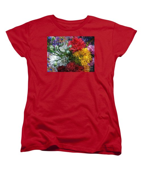 Warning Flowers At Large Women's T-Shirt (Standard Cut) by Joseph J Stevens