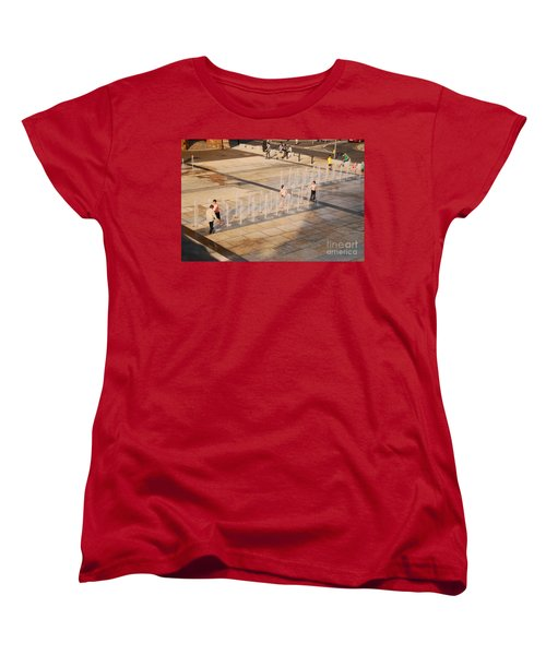 Women's T-Shirt (Standard Cut) featuring the photograph Water Fun by Mary Carol Story