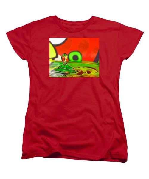 Women's T-Shirt (Standard Cut) featuring the photograph Water Hill by Peter Lakomy
