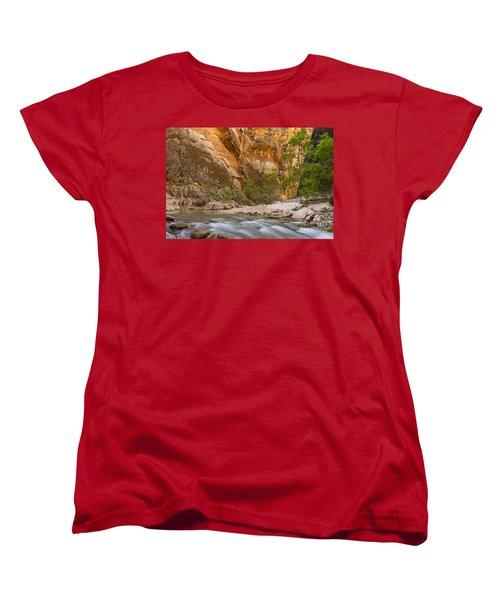 Women's T-Shirt (Standard Cut) featuring the photograph Water In The Narrows by Bryan Keil