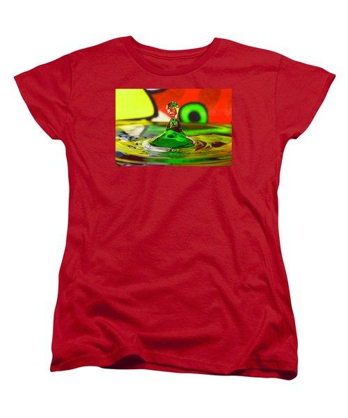 Women's T-Shirt (Standard Cut) featuring the photograph Water Stick by Peter Lakomy