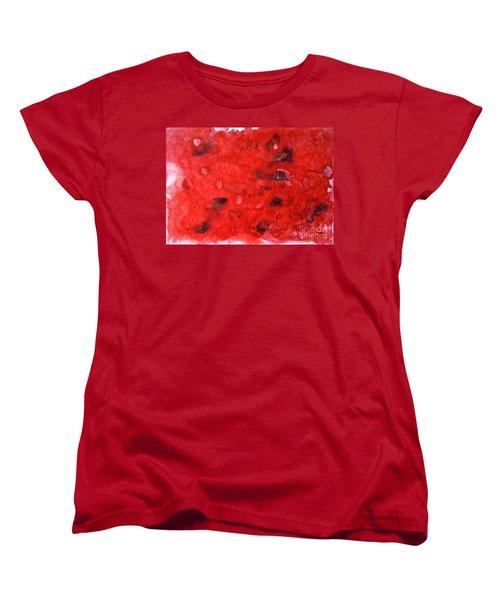 Watermelon  Women's T-Shirt (Standard Cut) by Zaira Dzhaubaeva