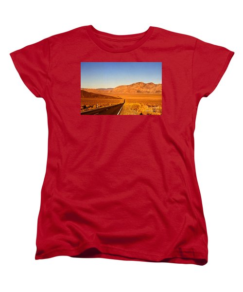 Way Open Road Women's T-Shirt (Standard Cut) by Byron Varvarigos