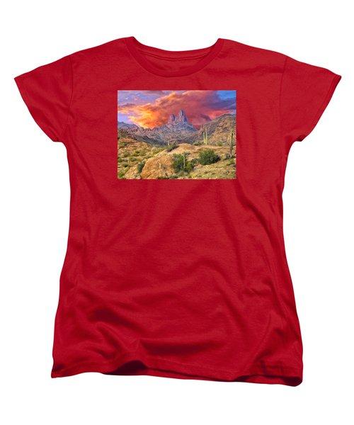 Weavers Needle Women's T-Shirt (Standard Cut) by Dominic Piperata