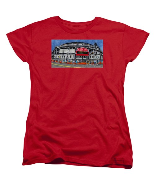 Welcome To Wrigley Field Women's T-Shirt (Standard Cut) by Phil Strang