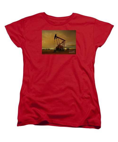 Wellhead At Dusk Women's T-Shirt (Standard Cut) by Jeff Swan