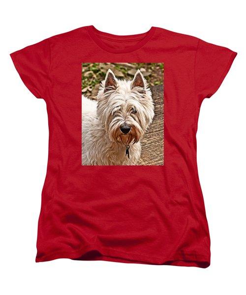 Women's T-Shirt (Standard Cut) featuring the photograph West Highland White Terrier by Robert L Jackson