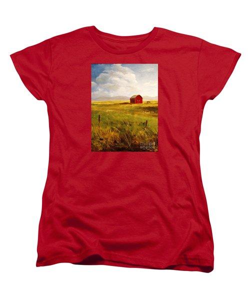 Western Barn Women's T-Shirt (Standard Cut) by Lee Piper