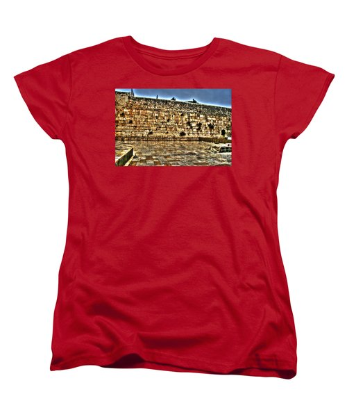 Women's T-Shirt (Standard Cut) featuring the photograph Western Wall In Israel by Doc Braham