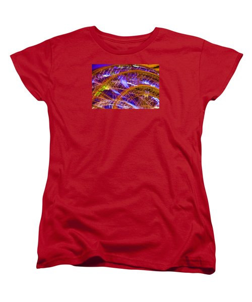 Women's T-Shirt (Standard Cut) featuring the photograph Wheels by Michael Nowotny