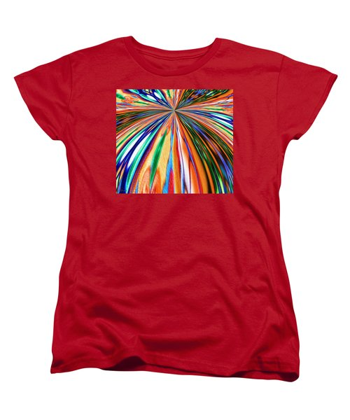 Where It All Began Abstract Women's T-Shirt (Standard Cut) by Alec Drake