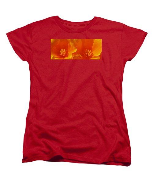 Wild Poppies Women's T-Shirt (Standard Cut) by Ben and Raisa Gertsberg