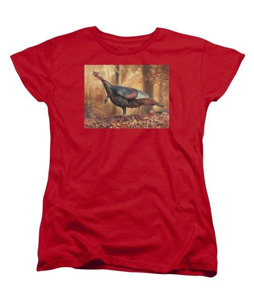Wild Turkey Women's T-Shirt (Standard Cut) by Hans Droog