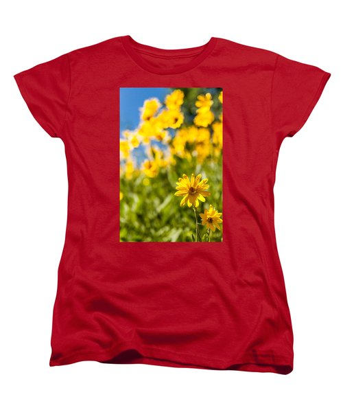 Wildflowers Standing Out Abstract Women's T-Shirt (Standard Cut) by Chad Dutson