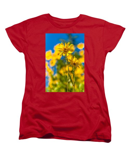 Wildflowers Standing Out Women's T-Shirt (Standard Cut) by Chad Dutson