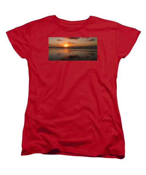 Wildwood Beach Sunrise Women's T-Shirt (Standard Cut) by David Dehner