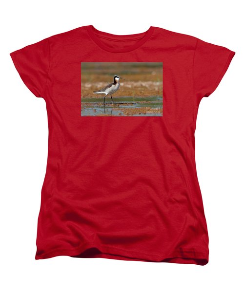 Wilson's Phalarope Calling Women's T-Shirt (Standard Cut) by Bryan Keil