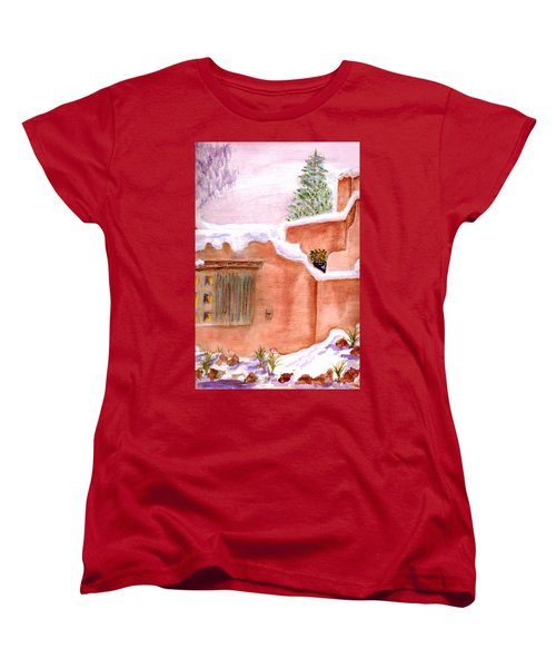 Winter Adobe Women's T-Shirt (Standard Cut) by Paula Ayers