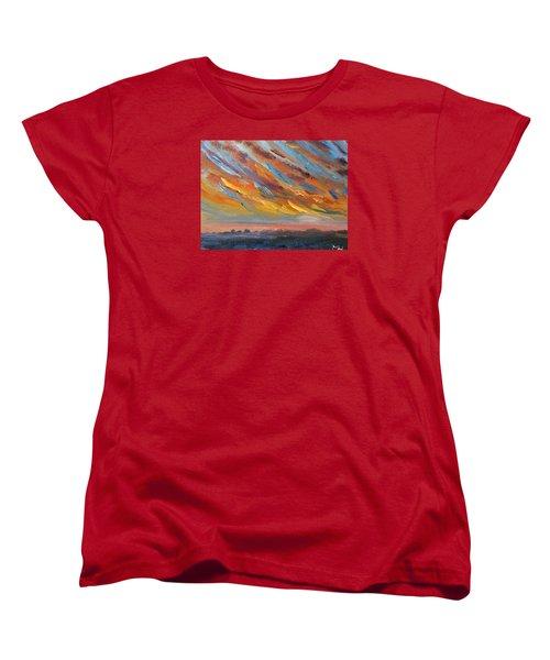 Winter Sunrise Over Provincetown Women's T-Shirt (Standard Cut)
