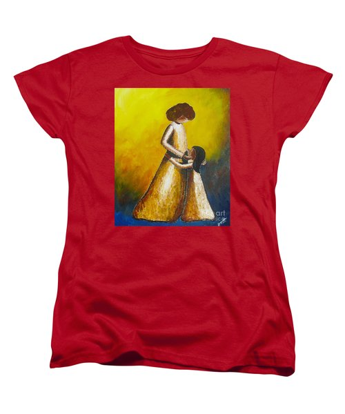 Women's T-Shirt (Standard Cut) featuring the painting With Her by Jacqueline Athmann