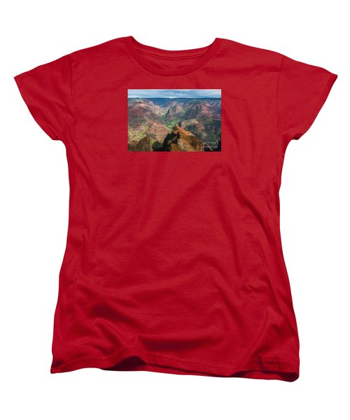 Women's T-Shirt (Standard Cut) featuring the photograph Wonders Of Waimea by Suzanne Luft