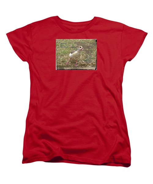 Women's T-Shirt (Standard Cut) featuring the photograph Words Of Wisdom - Do Not Drink And by Ella Kaye Dickey