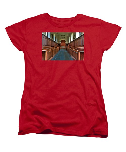 Women's T-Shirt (Standard Cut) featuring the photograph Wren Chapel Interior by Jerry Gammon