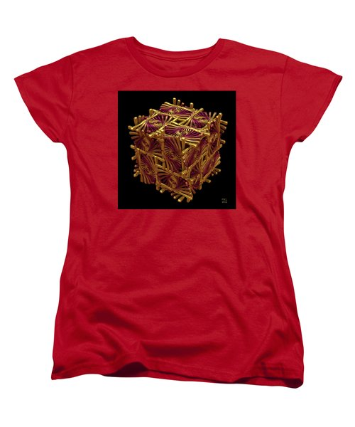 Women's T-Shirt (Standard Cut) featuring the digital art Xd Box by Manny Lorenzo