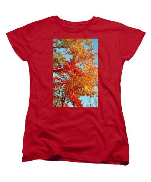 Yellow And Red Women's T-Shirt (Standard Cut) by Patrick Shupert