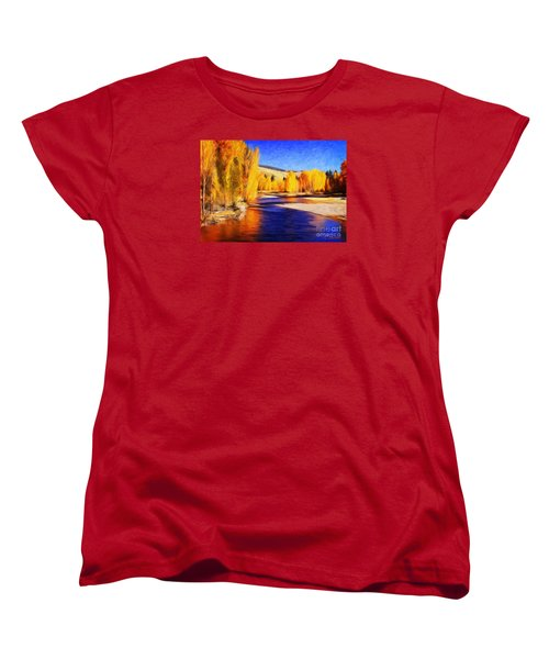Yellow Bend In The River II Women's T-Shirt (Standard Cut) by Joseph J Stevens