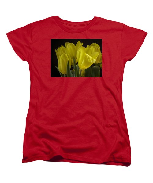 Women's T-Shirt (Standard Cut) featuring the photograph Yellow Silk by Lucinda Walter