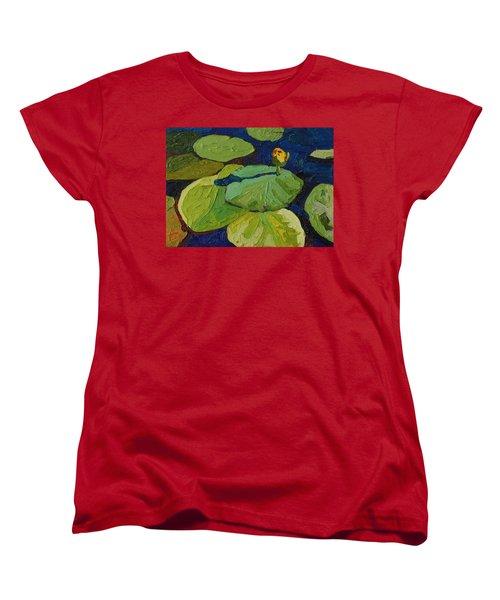 Yellow Waterlily Women's T-Shirt (Standard Cut) by Phil Chadwick
