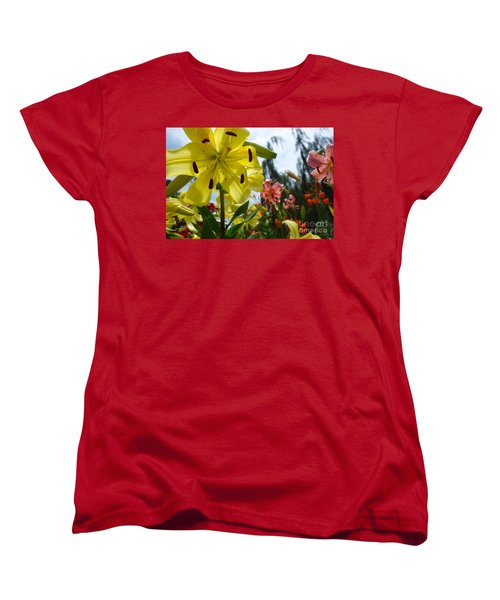 Yellow Whopper Lily 1 Women's T-Shirt (Standard Cut) by Jacqueline Athmann