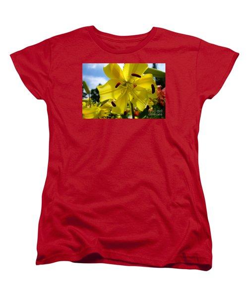 Yellow Whopper Lily 2 Women's T-Shirt (Standard Cut) by Jacqueline Athmann