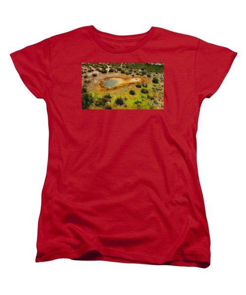 Yellowstone Hot Pool Women's T-Shirt (Standard Cut) by Ausra Huntington nee Paulauskaite