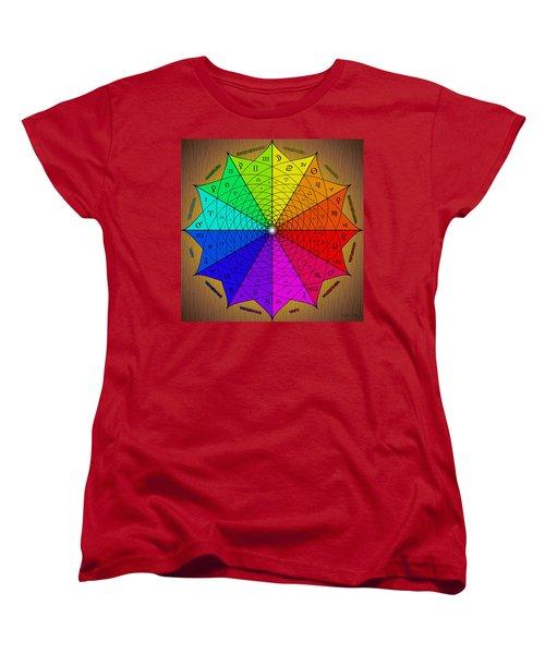 Zodiac Color Star Women's T-Shirt (Standard Cut) by Derek Gedney