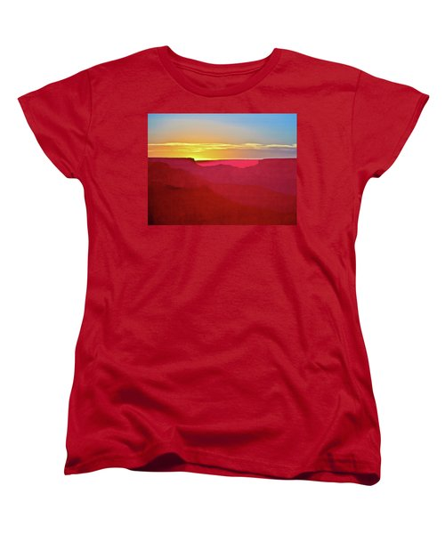 Women's T-Shirt (Standard Cut) featuring the painting   Sunset At Grand Canyon Desert View by Bob and Nadine Johnston