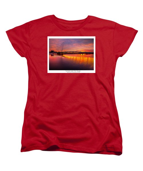 Women's T-Shirt (Standard Cut) featuring the photograph  Sunset Over The Quay by Beverly Cash