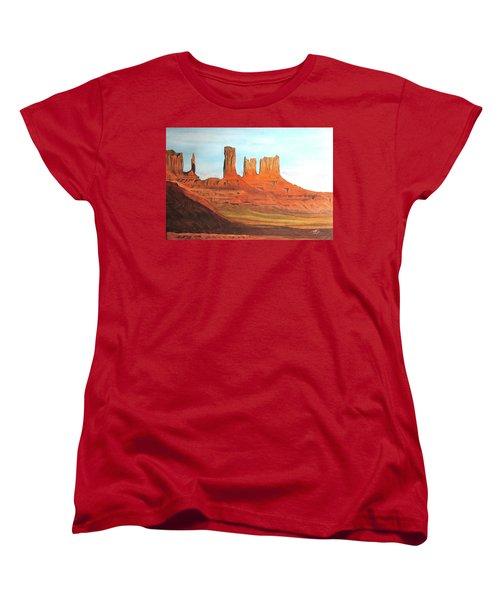Arizona Monuments Women's T-Shirt (Standard Cut) by Maris Sherwood