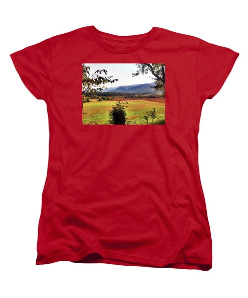 Women's T-Shirt (Standard Cut) featuring the photograph Cades Cove by Janice Spivey
