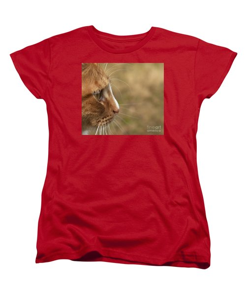 Women's T-Shirt (Standard Cut) featuring the photograph Flitwick The Cat by Jeannette Hunt