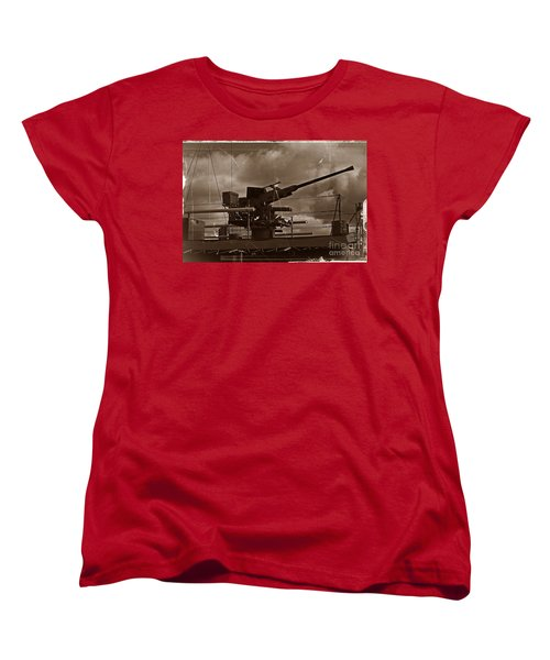 Women's T-Shirt (Standard Cut) featuring the photograph Hmas Castlemaine 5 by Blair Stuart