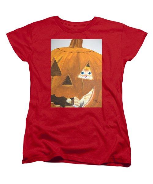 Women's T-Shirt (Standard Cut) featuring the painting Peekaboo by Norm Starks