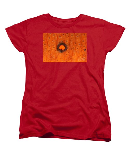 Skin Of Eastern Newt Women's T-Shirt (Standard Cut) by Ted Kinsman
